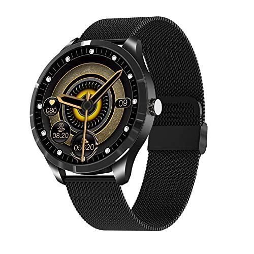 XYJ Smart Watch Correr Watch Fitness Trackers con Monitor de Ritmo cardíaco Step Counter Sleep Monitor IP67 Reloj de Actividad Digital a Prueba de Agua Compatible con teléfonos Android (Color: Negro)