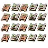 sourcingmap 20pz a molla in acciaio velocità U di fissaggio dado in ottone Clip Tono per ...