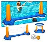 Aufblasbares Wasserballspiel Volleyballnetz &...