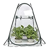 XLYS Pop Up Greenhouse,Portable Collapsible Grow House,PVC Indoor Outdoor Backyard Greenhouse Cover Small Gardening Plant Shelter- 27.5' x 27.5' x 31.5'