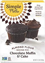 Simple Mills Almond Flour Baking Mix, Gluten Free Chocolate Cake Mix, Muffin pan ready, Made with whole foods, (Packaging May Vary)