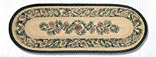 Earth Rugs Pinecone Oval Runner