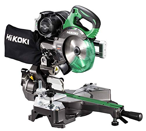 HiKOKI(ハイコーキ) 旧日立工機 コードレス卓上スライド丸のこ 36V マルチボルト 充電式 刃径165mm 両傾斜 最大八寸(245mm) 切断 レーザーマーカー・LEDライト内蔵 蓄電池・急速充電器別売り チップソー付き C3606DRB(NN)