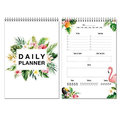 Local & Urban Flamingo Tischkalender im Querformat Terminplaner Wochenkalender Kalender 2020/2021 Planer 2021