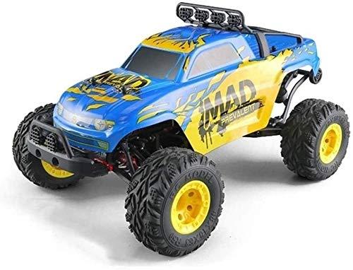 Raelf 1:12 4WD Coche de escalada de alta velocidad 2.4G Escala completa Bigfoot Coche de juguete All-Terreno Anti-patín y absorción de choque Camiones fuera de la carretera Vehículo de carretera 4WD C