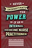 Never Underestimate Internal Medicine Nurse Practitioner: Graph Paper Notebook (6x9 100 Pages) Gift for Colleagues, Friends and Family