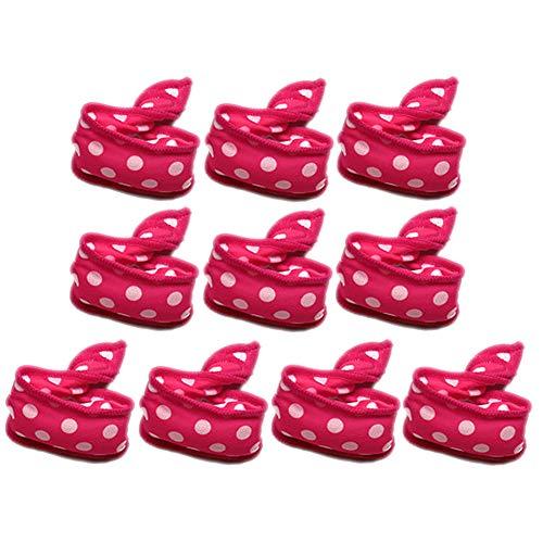 Whiie891203 Polka Dot Hair Curler, Sponge Curler, 10Pcs Dot Flexible Sponge Hair Roller Night Sleep Curler DIY Outil De Coiffure (21,5 Cm X 3,5 Cm / 8,46\