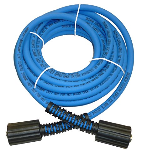 PROPULSE, A Schieffer Co. UBERFLEX Kink Resistant Pressure Washer Hose 1/4' x 25' 3,100 PSI with (2)...