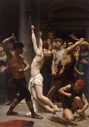 Steve Art Gallery The Flagellation of Christ,Adolphe William Bouguereau,60x40cm