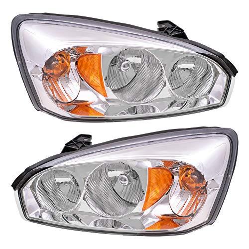 Replacement Driver and Passenger Set Headlights Compatible with 2004-2007 Malibu Malibu Maxx 2008 Malibu Classic