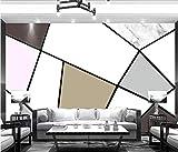 Papel tapiz fotográfico Mural-No tejido-Moderno minimalista pintado a mano rosa mate blanco y negro gris fondo decorativo pared * 430cmx300cm (169.3x118.1inch) Fleece Wallpaper Sala de estar Dormitori