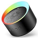 Axloie Altavoz Bluetooth Portátil 5.0 Altavoz Inalámbrico con Graves Profundos Sonido Estéreo 10H de Reproducción Tarjeta TF/AUX Micrófono Incorporado para Viajes Fiesta Casa (Negro)