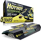 HOY HOY Trap-A-Roach Pesticide-Free Roach Bait Glue Traps 5 Count, Made in Japan