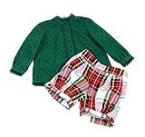 MI HIJA Y YO Conjunto Blusa y Pantalon en Plumeti y Sarga para bebé niña Modelo Klassic (De 12 a 24 Meses)- Hecho a Mano - Excellent