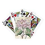Lotus Flower Lotus Root Acuarela Poker Jugar Tarjeta mágica Divertida Juego de mesa