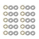 10 piezas de rodamiento de bolas de empuje Rodamiento de agujas Rodamientos de acero Arandelas axiales de bolas Rodamientos de acero planos en miniatura Set(F7-13M 7 * 13 * 4.5mm)