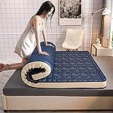 HFMY Japanische Futon Matratze,verdicken Boden Latexmatratze,Schlafen Pad Folding Nicht-Slip Anti-bakterielle Sitzkissen Doppel-Einzel Camping Matratzen