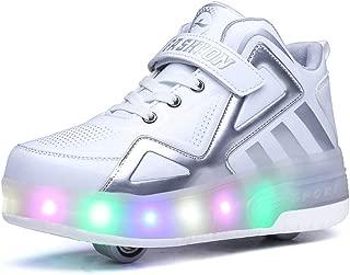 Zapatos con Ruedas Zapatillas con Dos Ruedas para niños y