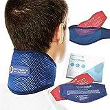 Sports Laboratory Minerve PRO+ Douleurs Cervicales Poche de Gel Chauffante & Rafraîchissante, Ajustable, Guide d'utilisation Inclus (Regular (11-17 inch))