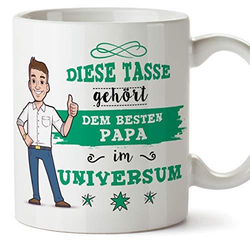 Mugffins Papa Tasse/Becher/Mug - Bester Papa im Universum - Kaffeetasse als Vatertagsgeschenk. Keramik 350 ml