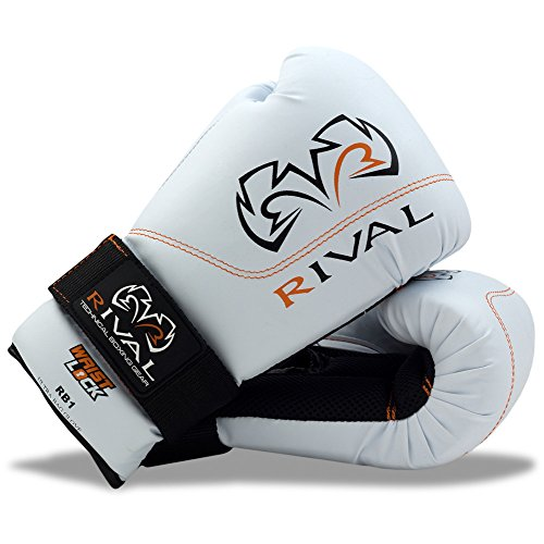 RIVAL Boxing RB1 Hook and Loop Ultra Bag Gloves - 10 oz - White