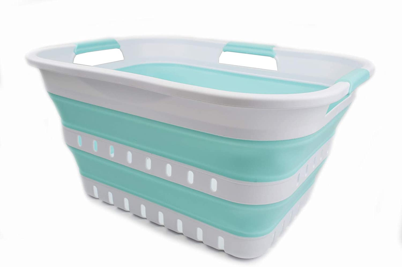 Wholesale SAMMART 30L 8 Gallon Collapsible Laundry Plastic Ranking TOP19 3 Bas Handled
