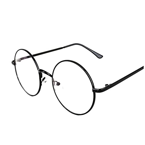 b913b0520a Lovef Large Oversized Metal Frame Clear Lens Round Circle Vintage Eye  Glasses 5.4   2inch