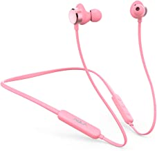Aula Wireless Earbud Headphones,Bluetooth 5.0, Magnetic in-Ear Earbuds, w/Mic,Noise Reduction, HiFi Stereo,Ergonomic, for Sport,Work,Travel,Home,Music,Game,Workouts,Running,Gym (Pink)