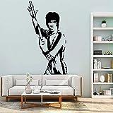 zzlfn3lv Bruce Lee Legend Karate Artes Marciales Etiqueta de Arte de la Pared Inspirada Vinilo Decoración para el Hogar Sala de Autoadhesivo Mural 57 * 105 cm