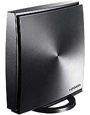 I-O DATA WiFi 無線LAN ルーター ac1200 867+300Mbps IPv6 デュアルバンド チャコールグレー  標準モデル 3階建/4LDK/返金保証 WN-DX1167R/E