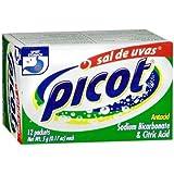 4 X Sal De Uvas Picot Effervescent Anti Acid Heartburn Upset Stomach Relief 48