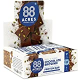 88 Acres Plant Based Seed Protein Bar | 9 Pack, Brownie | 12g of Plant Based Protein, Gluten Free, Nut Free, Non GMO, School Safe, No Palm Oil