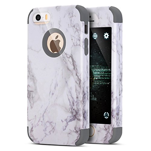 iPhone 8Plus Case,iPhone 7Plus Case,Marmo Full-Body Hybrid Heavy Duty Antiurto Contro Lo Sporco Morbido Silicone e Cop Doppio Strato Antiscivolo Protezione Custodia Bumper per iPhone 8Plus/7Plus