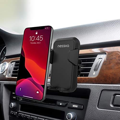 NessKa Soporte universal de teléfono móvil para el coche (360°, compatible con todos los teléfonos móviles iPhone, Huawei, Xiaomi, Samsung Galaxy, Nokia, One Plus, Oppo, LG, HTC)