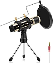 Studio Recording Microphone, ZealSound Condenser Broadcast Microphone w/Stand Built-in..