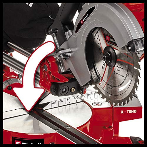 Einhell Akku-Zug-Kapp-Gehrungssäge TE-SM 36/210 Li-Solo Power X-Change (Li-Ion, 36 V, leichtgängige Zugfunktion, Schnittlinien-Laser, ohne Akku und Ladegerät) - 9