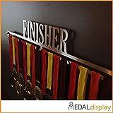 MEDALdisplay - Porta medallas/medallero de pared Finisher, 600mm x 100mm x 3mm