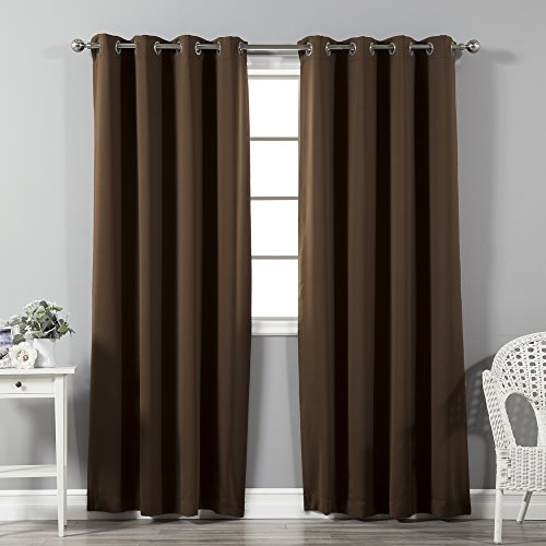Best Home Fashion Thermal Insulated Blackout Curtains - Stainless Steel...