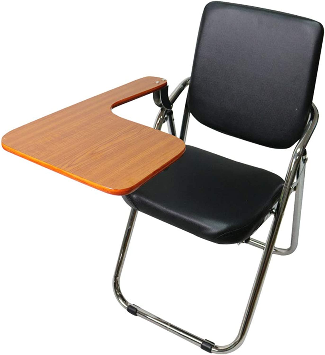 Training Chair, Folding Board with Writing Board Free Inssizetion Meeting Staff Student Reporter Office Chair Convenient Environmentally Friendly Waterproof and Clean