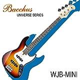 バッカスのミニ・ジャズ・ベース|Bacchus UNIVERSE Series WJB-mini 3TS / 初心者や女性、ギタリストにも!! (3TS/3トーン・サンバースト)