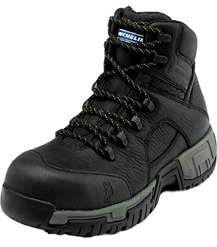 MICHELIN Men's Hydroedge Puncture Resistant Waterproof Work Boot Steel Toe Black 13 D