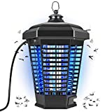 Bug Zapper, 4200V Powerful Electric Mosquito Killer, 18W Insect Fly Trap for Indoor and Outdoor, Mosquito Traps, Waterproof Mosquito Lamp for Patio,Backyard,Home (Black)