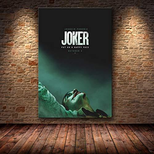 muyichen Joaquin Phoenix Poster Prints Joker Poster Movie 2019 DC Comic Art Lienzo Pintura Al Óleo Cuadros De Pared para Sala De Estar Decoración del Hogar Ra240 40X60Cm Sin Marco