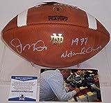 Joe Montana - Autographed Wilson Official Leather Notre Dame NCAA Football - F1008 - BAS Beckett Authentication
