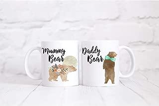 Mummy Bear Daddy Bear Mug & Coaster Gift, Water colour, New Baby Shower Gift, Mama, Papa FamilyCustom Coffee Mug - Personalized Unique Gift Ideas