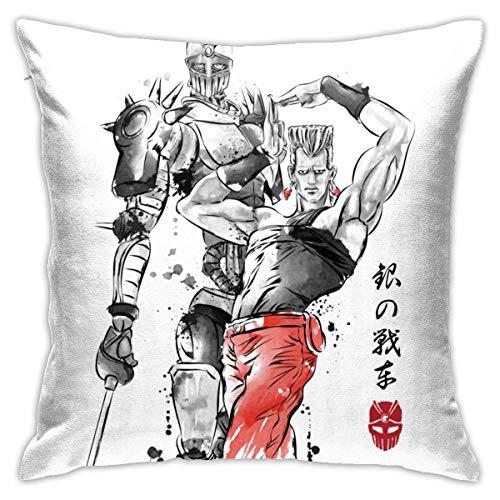 Niet applicable Cushion Cover Jojo 'S Jean Stone Polnareff kussenslopen dubbelzijdig sofakussen decoratief kussen voor thuis 45 x 45 cm