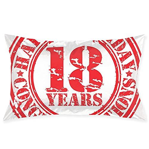 QILIAN Fundas de cojín decorativas, vintage con texto en alemán 'Alles Gute zum Geburtstag y dulce, 10 sellos con símbolo de imagen retro, funda de cojín para el hogar, sofá o dormitorio, 50 cm
