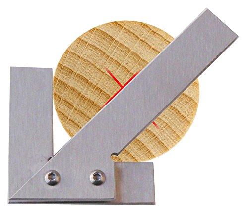 Zentrierwinkel für Rundmaterial aus Edelstahl Mittelpunktfinder Mitte-Finder Ausmittler