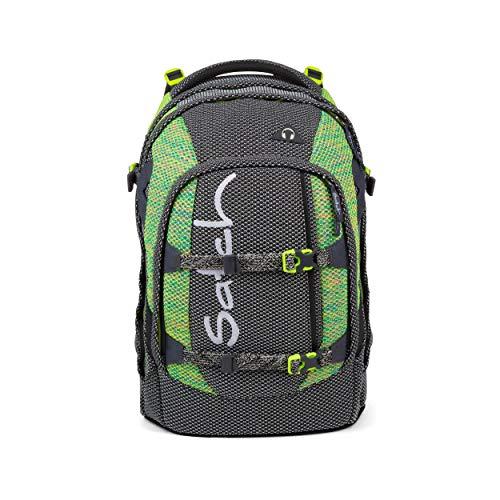 satch Pack Stripe Hype, ergonomischer Schulrucksack, 30 Liter, Organisationstalent, Schwarz