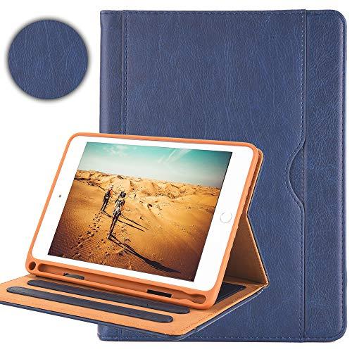 Capa Billionn para iPad Mini 5 8,9 polegadas 2019 com suporte para lápis Auto Wake/Sleep Universal Apple iPad Mini 5 e Mini 4/3/2/1, azul liso